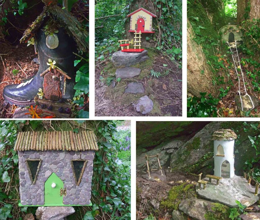 irish fairy houses, irish fairy trails