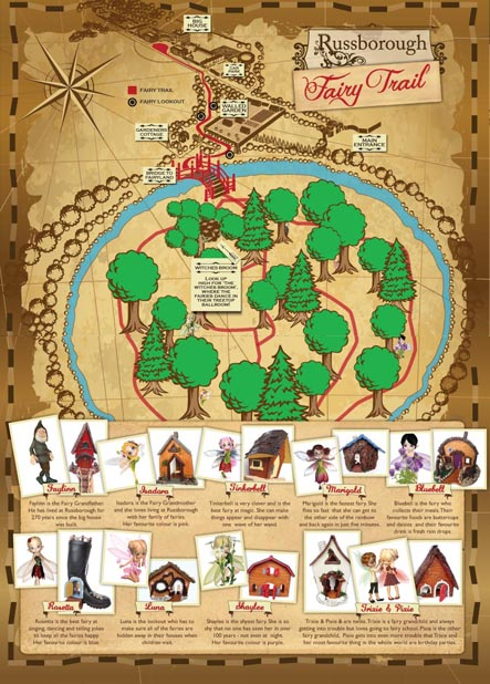 Russborough Fairy Trail Map