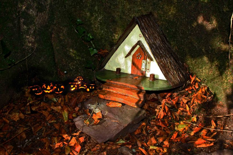 Irish Fairy Houses at Halloween