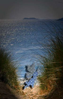 A fairy ventures out to the beach at Derrynane