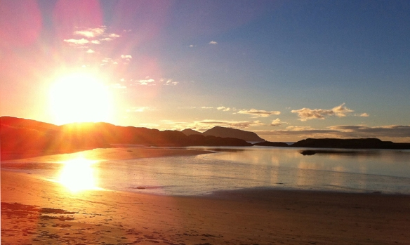 derrynane long beach sunset